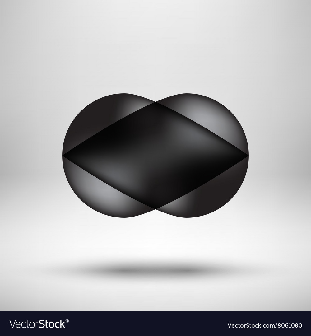 Black Bubble Icon Badge with Light Background vector image