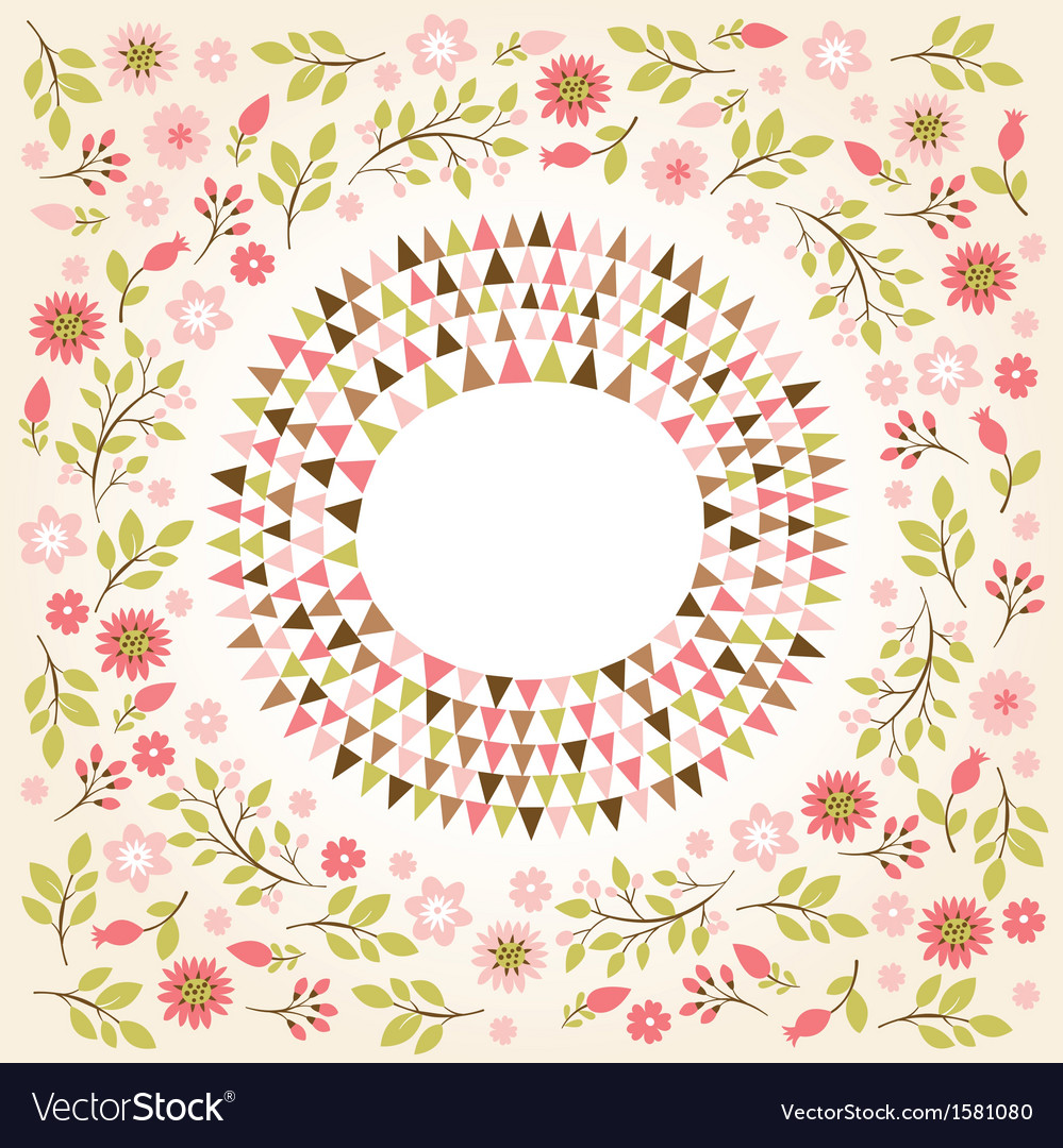 Floral farame vector image