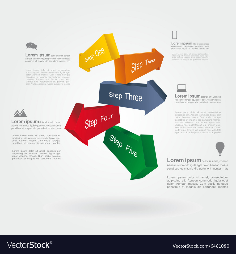 Infographic report template with place for your vector image