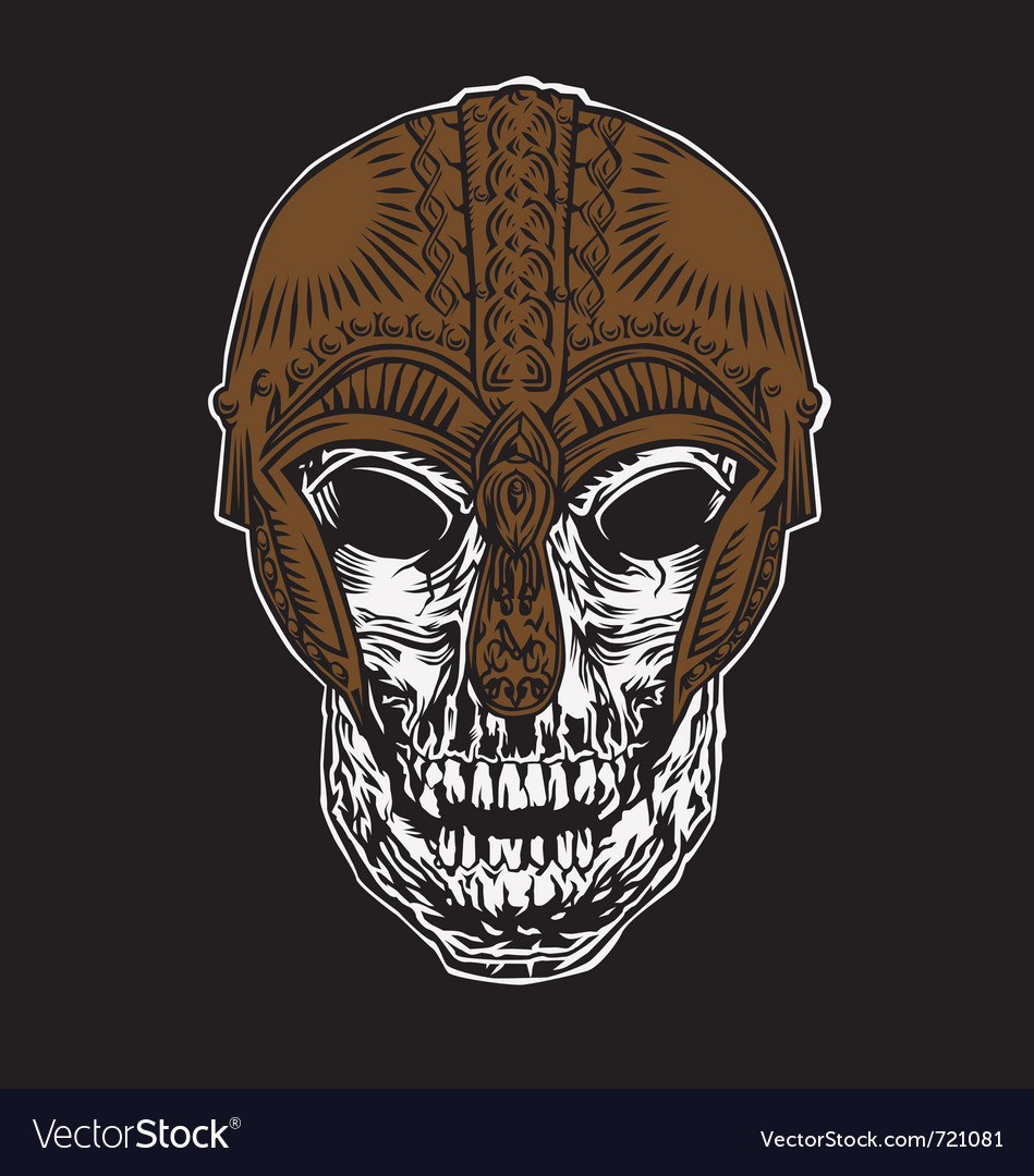 Viking skull vector image