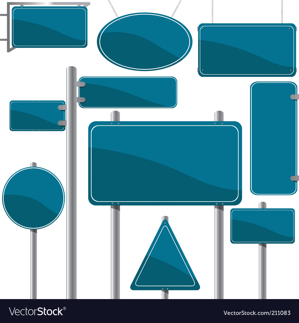 Direction and advertise signs Vector Image