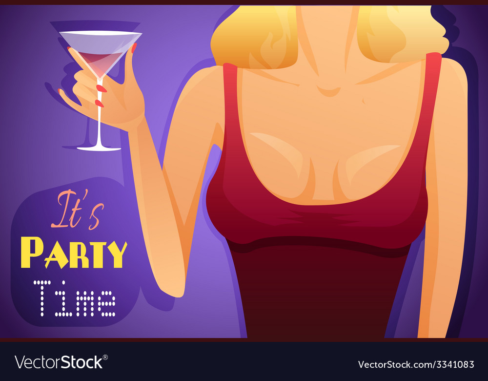 Poster with a hot girl vector image
