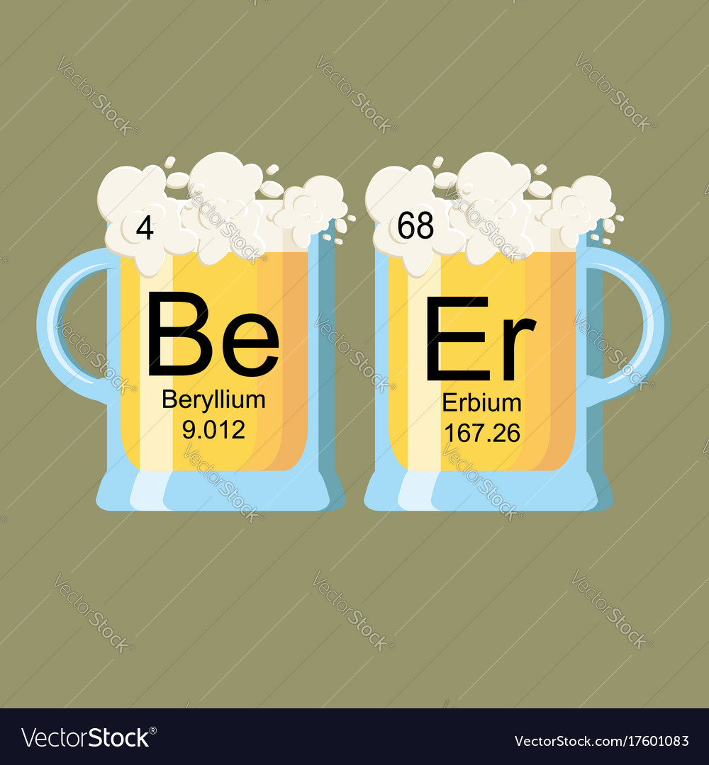 The word beer made of chemical elements beryllium vector image buycottarizona Image collections