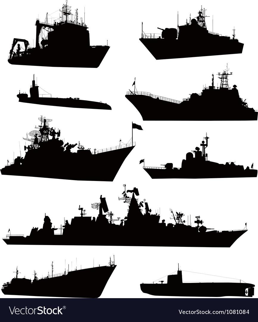 Naval set vector image