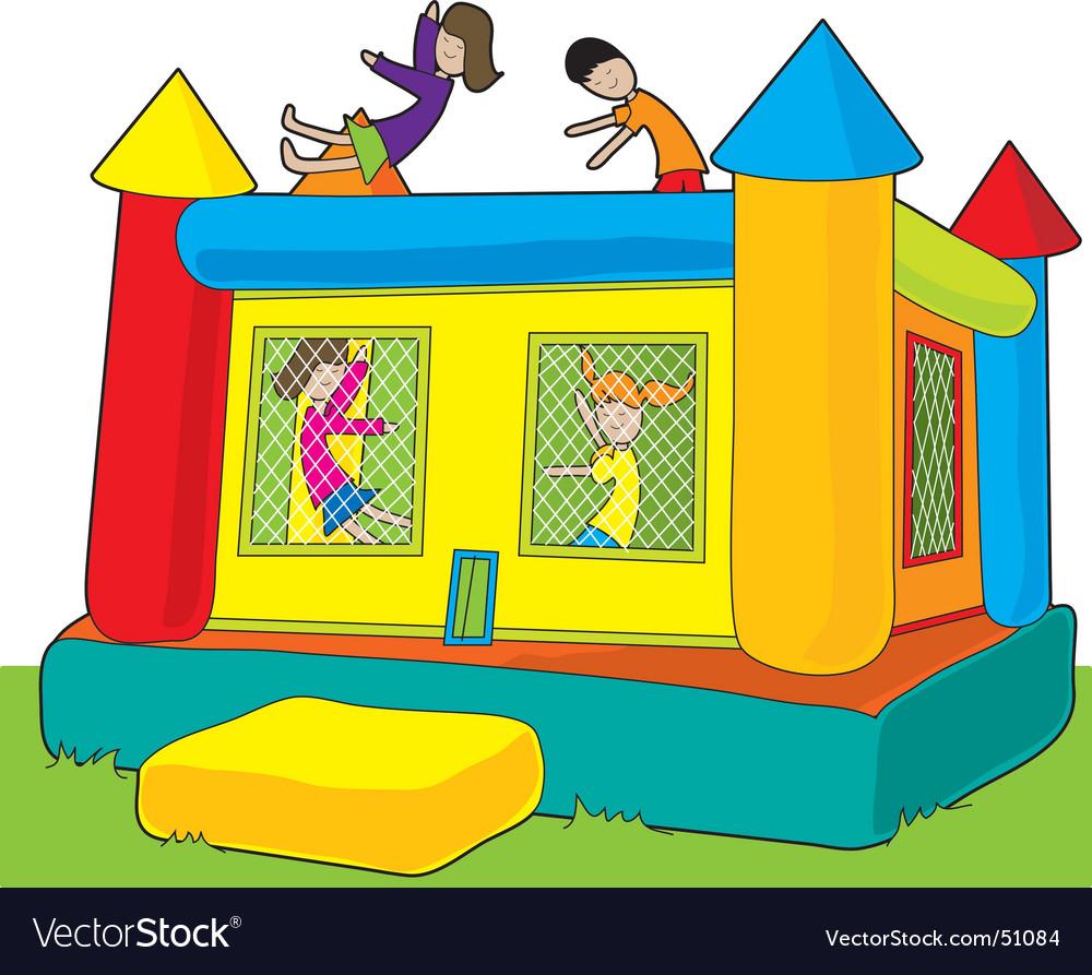 Bounce castle vector image