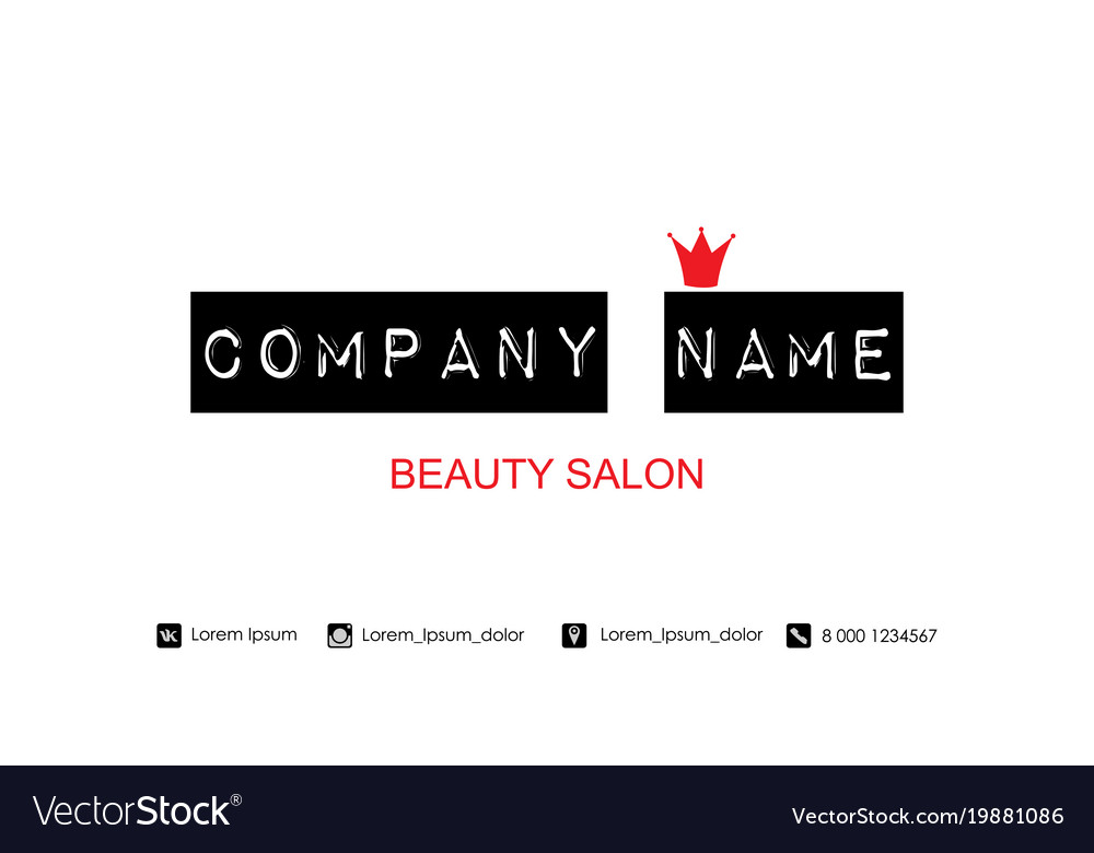 Beauty salon business card template royalty free vector beauty salon business card template vector image accmission Image collections