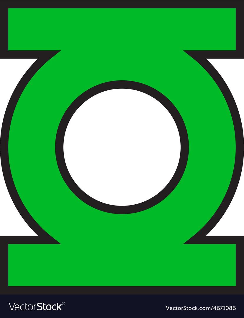 green lantern logo royalty free vector image vectorstock. Black Bedroom Furniture Sets. Home Design Ideas