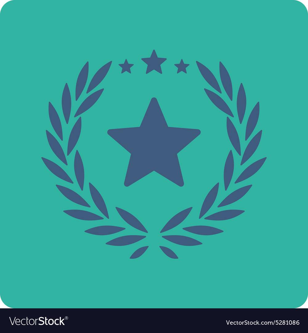 Proud icon from Award Buttons OverColor Set vector image