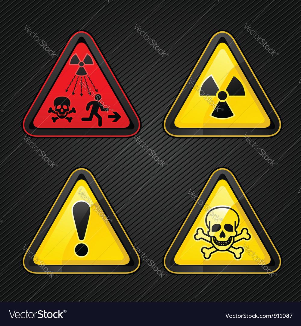 Hazard warning set vector image