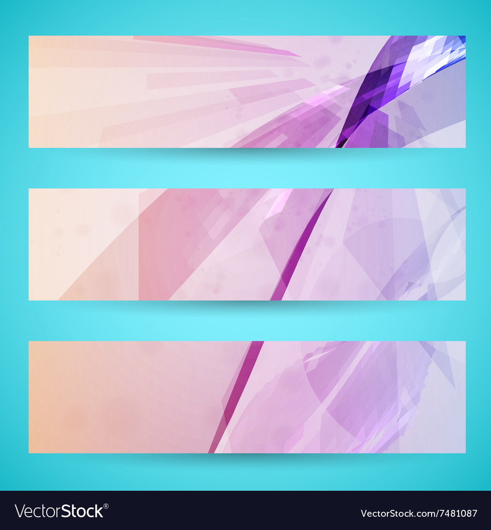Abstract banner background vector image