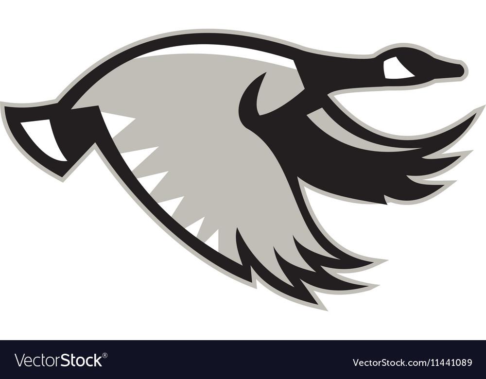 Canada Goose Flying Retro vector image