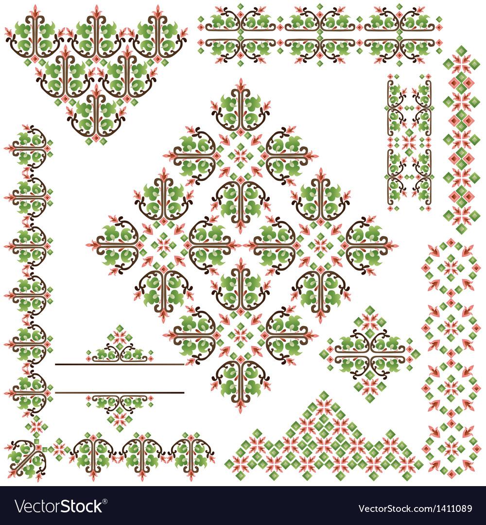 Islamic border set vector image
