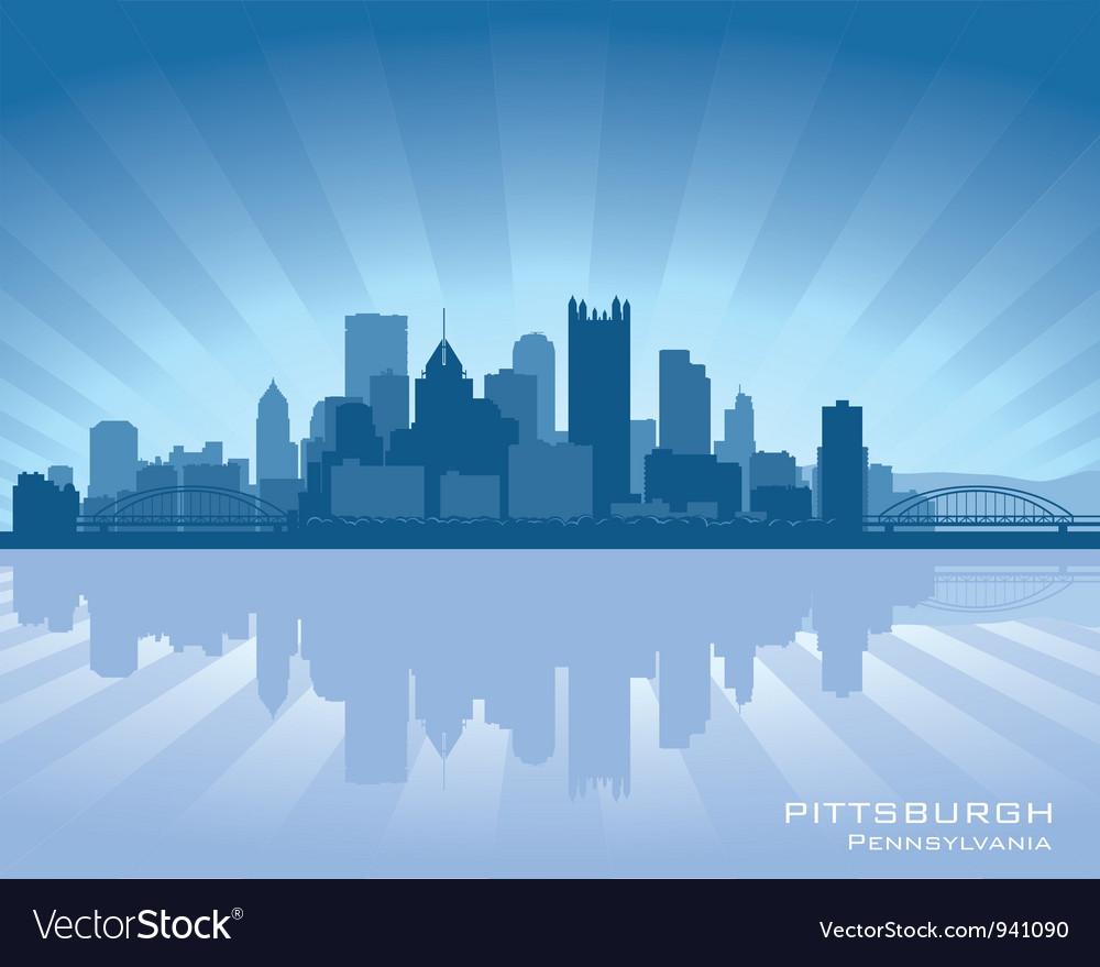 Pittsburgh Pennsylvania skyline vector image