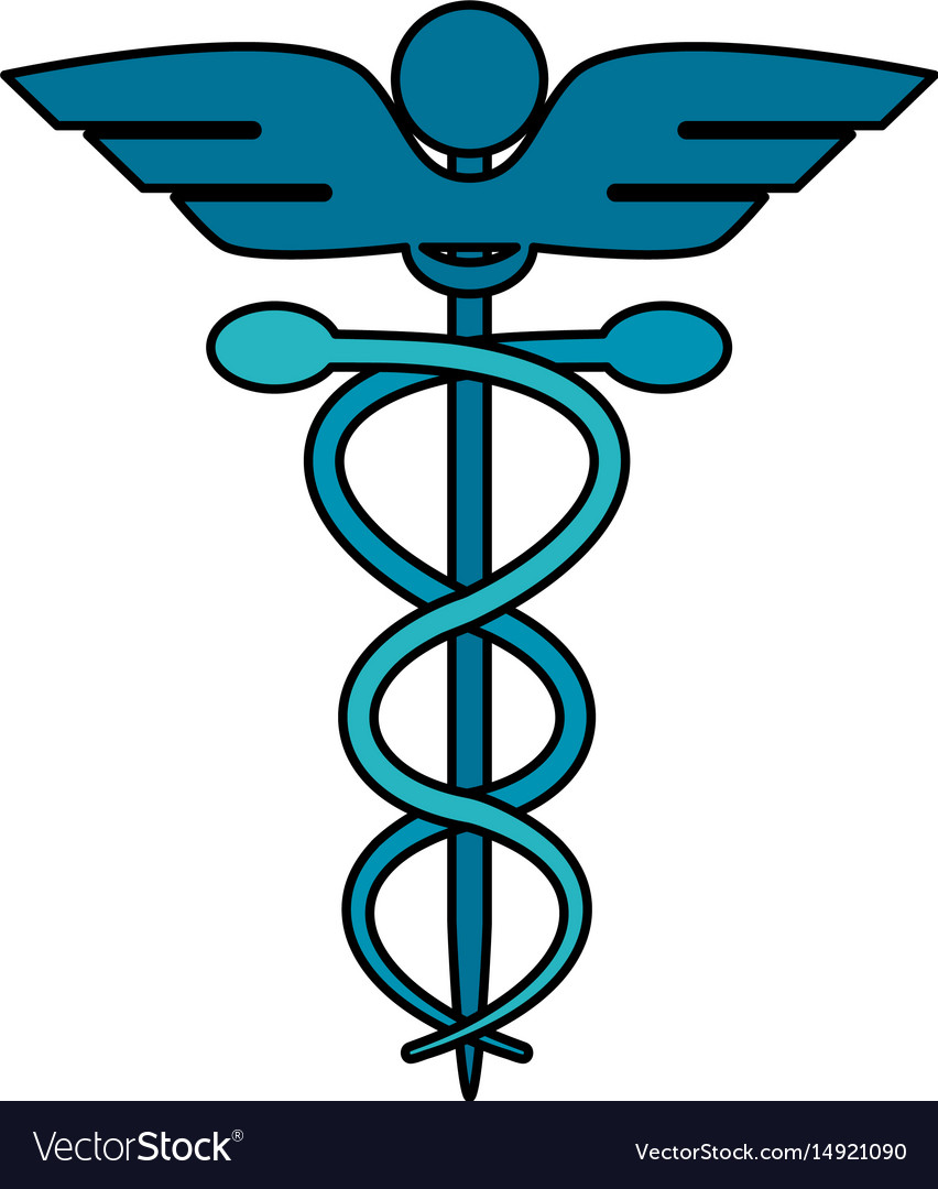 Color image cartoon health symbol with serpent vector image buycottarizona Image collections