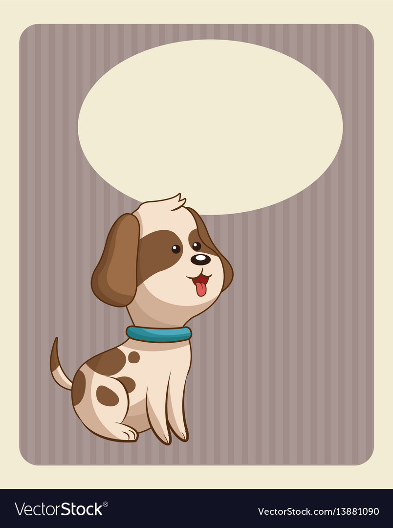 Cute doggy poster image vector image