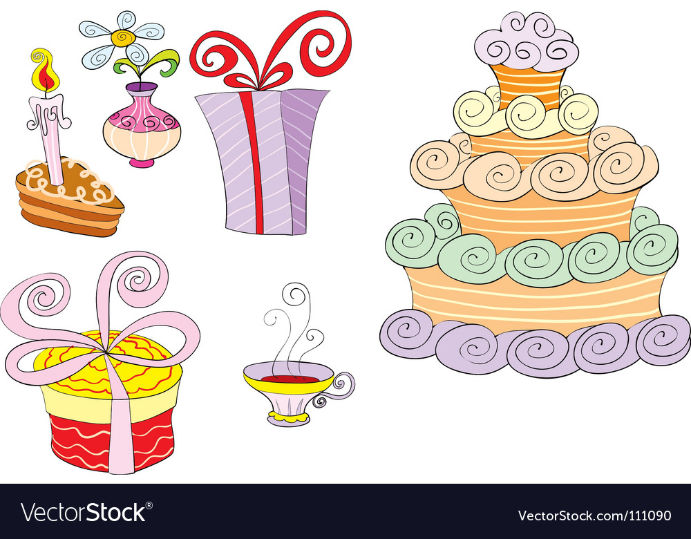 Holiday table vector image