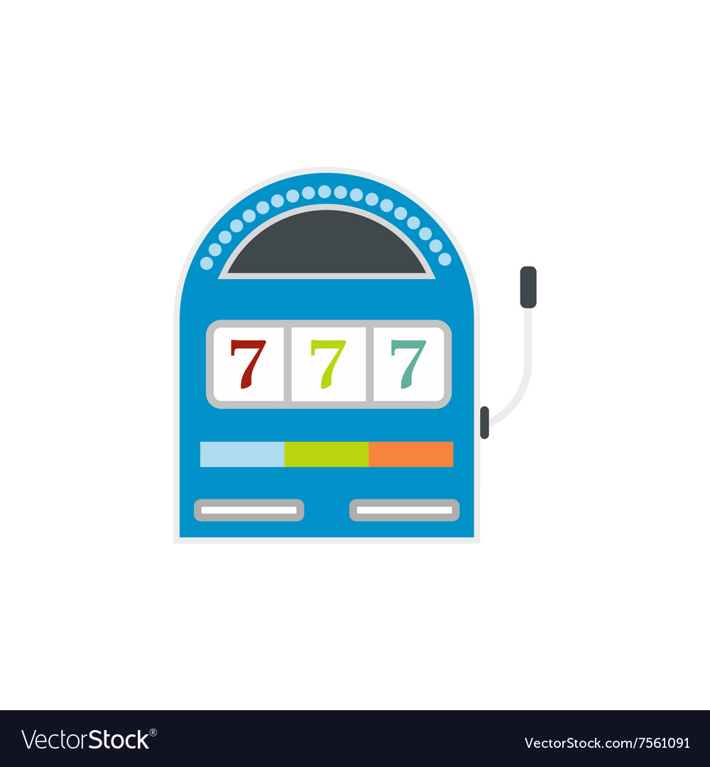 Slot machine jackpot flat icon vector image