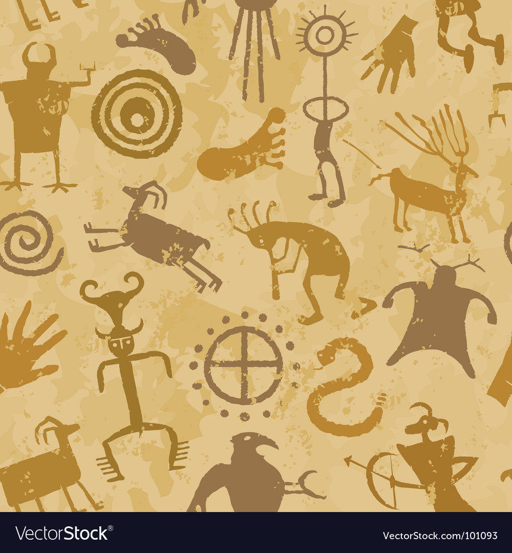 Cave painting vector image