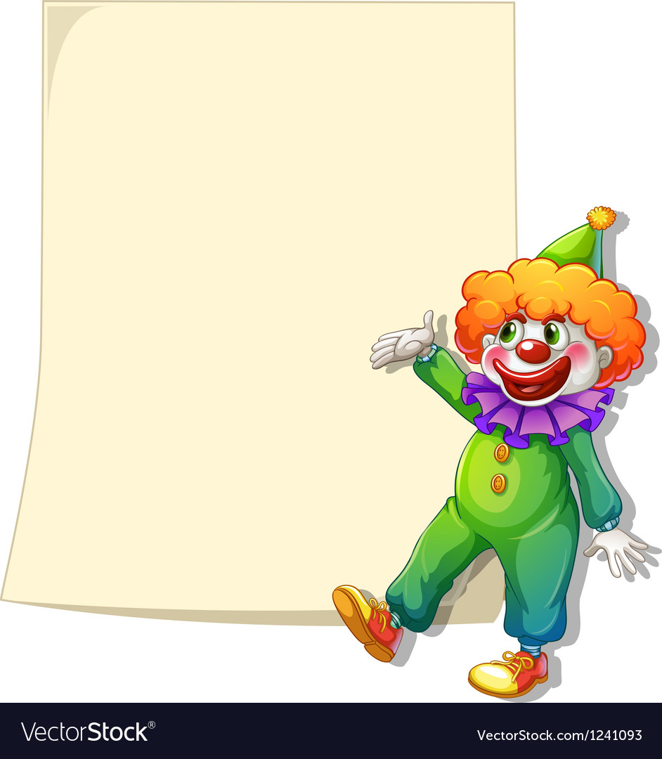 An empty space with a clown vector image