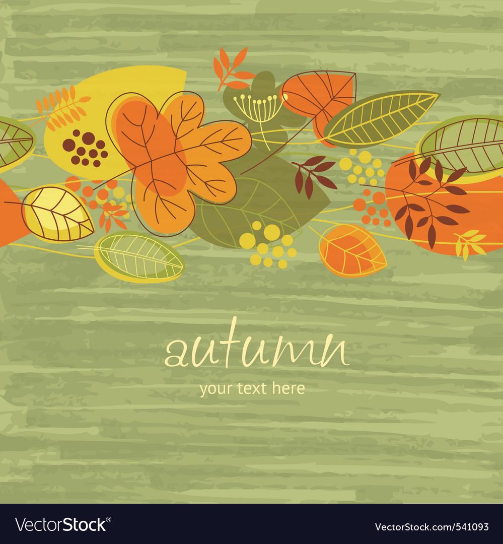 Autumn illustration vector image