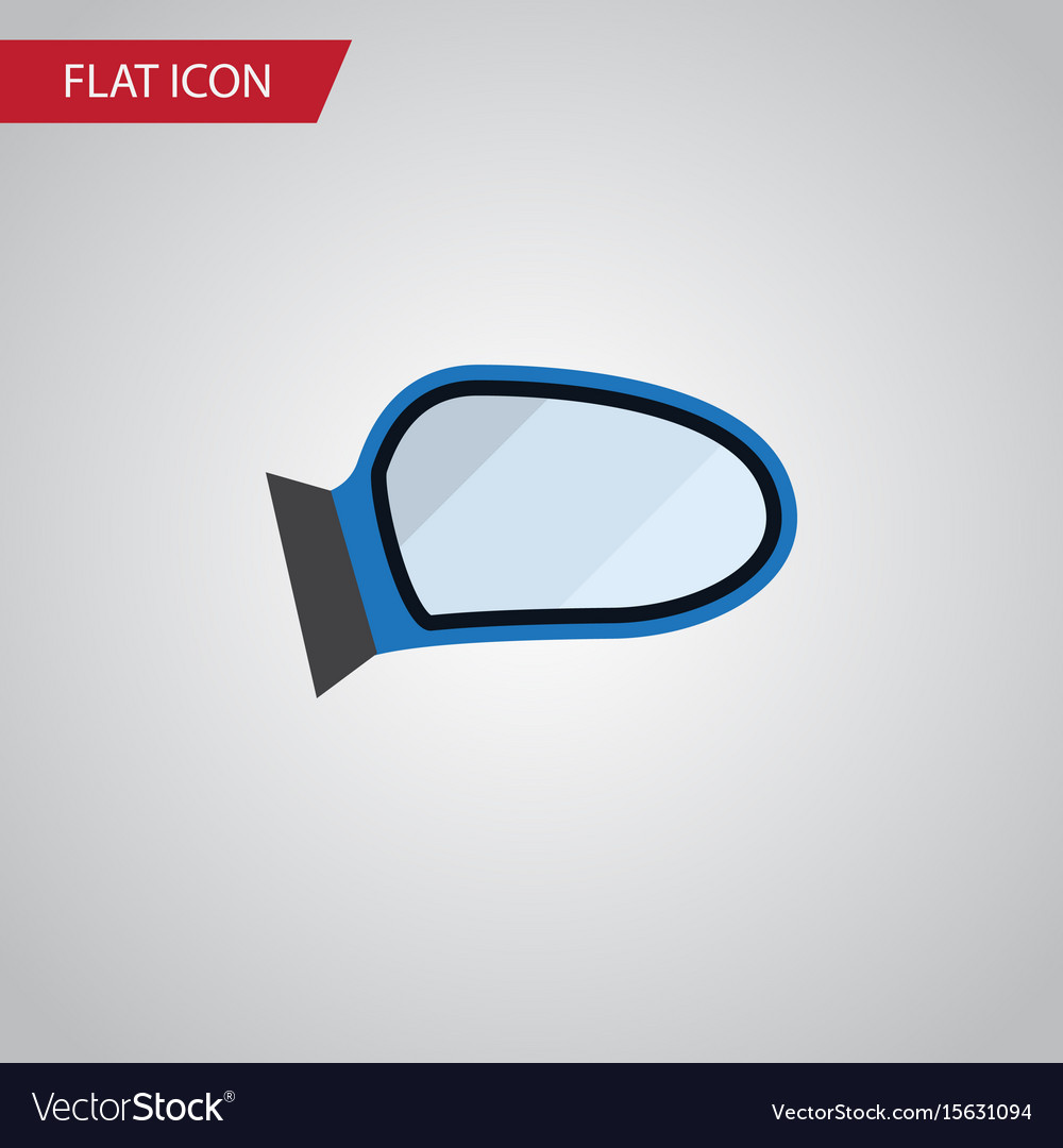 Isolated mirror wing flat icon auto component vector image