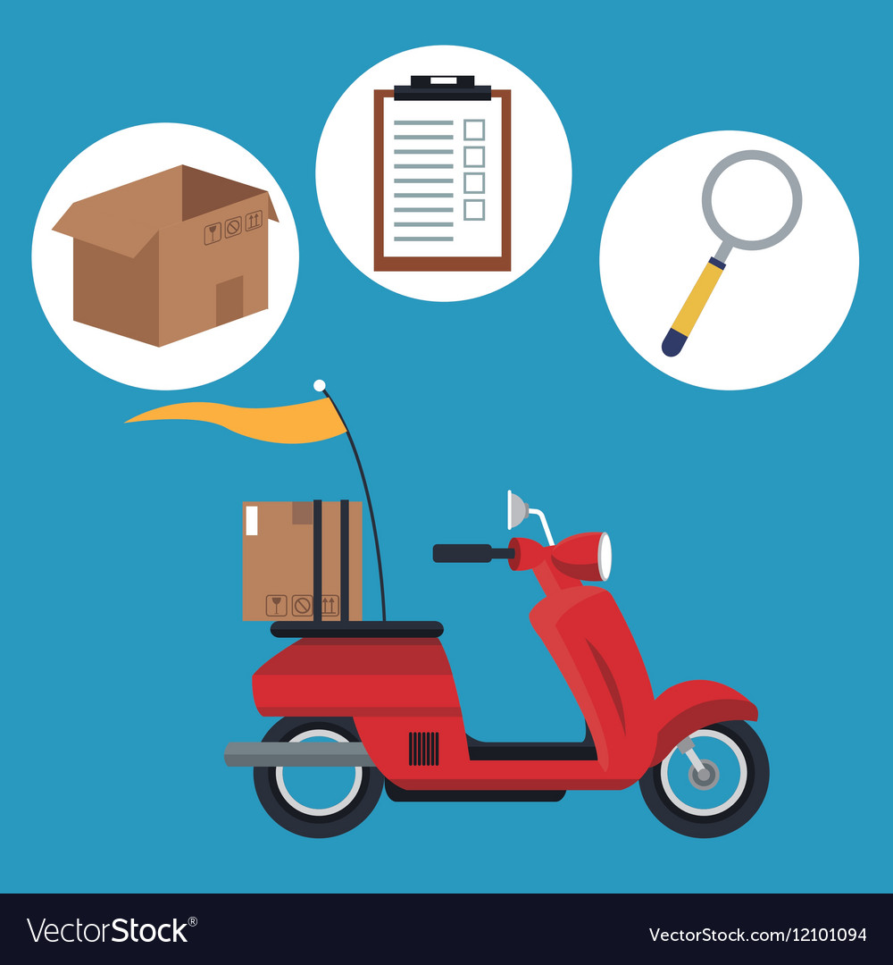 Motorcycle transport shipping delivery concept vector image