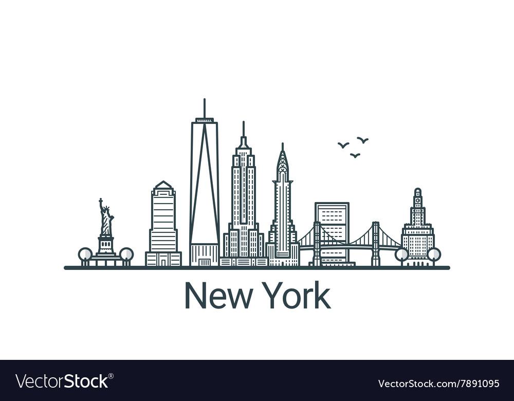 Outline New York banner vector image