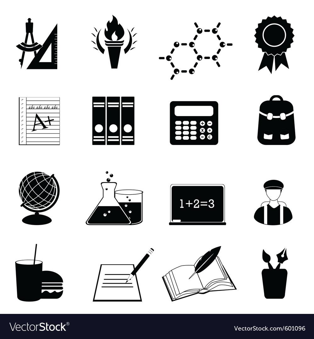 University icons vector image
