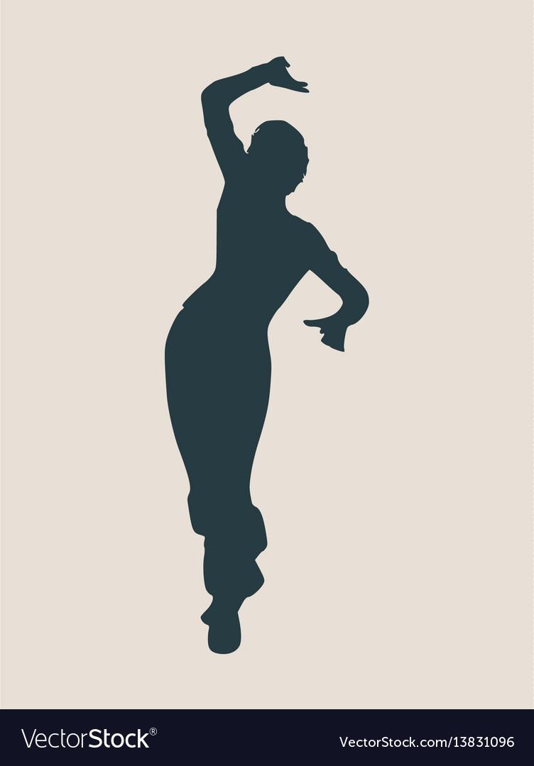 Abstract women in dancing pose vector image