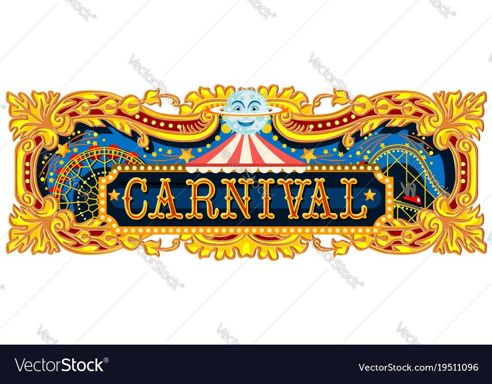 carnival border templates blank circus sign circus poster