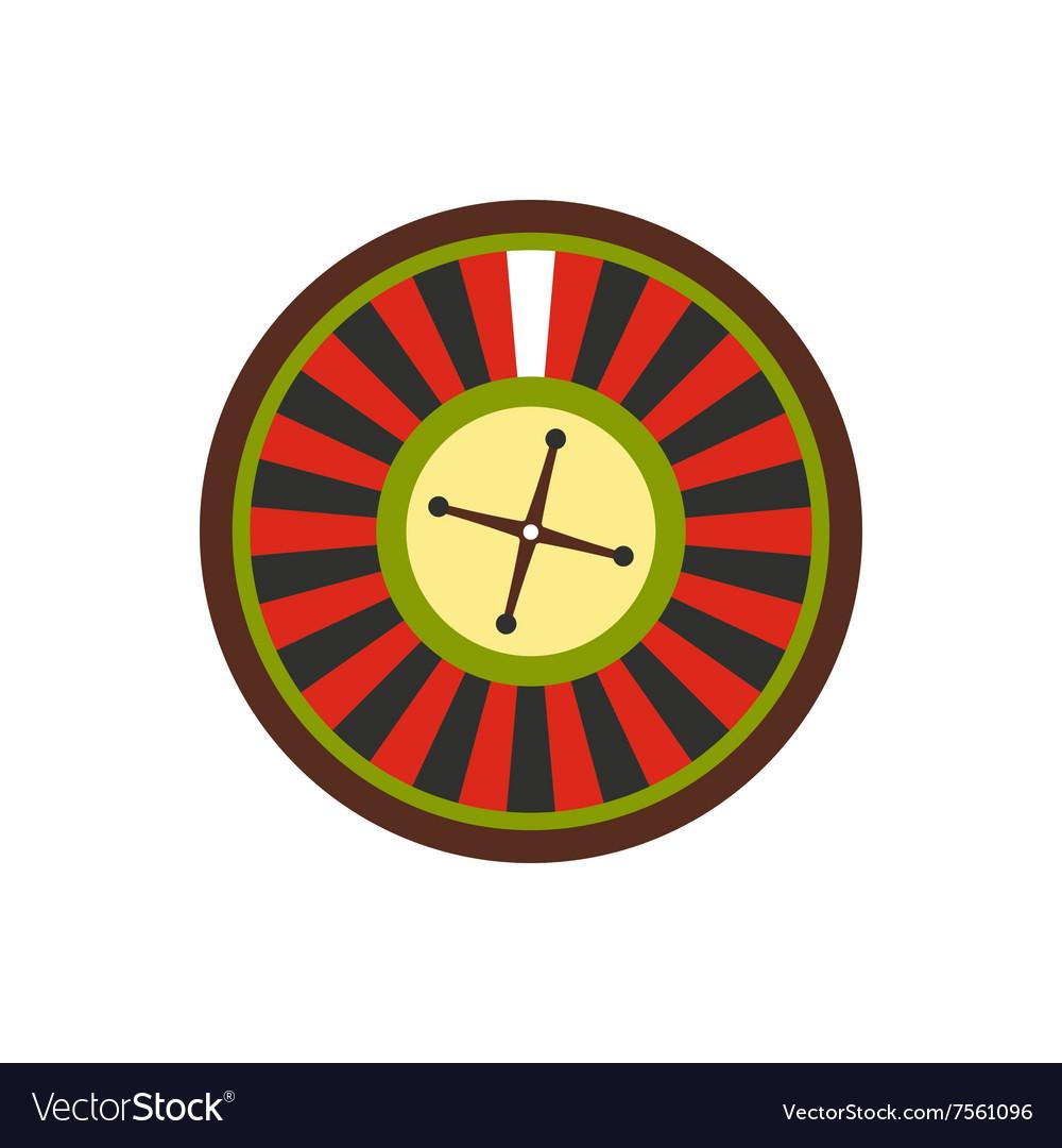 Casino symbol roulette flat icon vector image