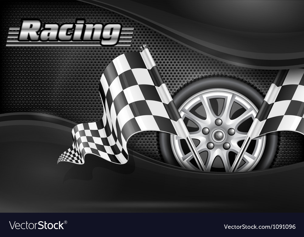 Chequered flag racing background 10 SS v vector image