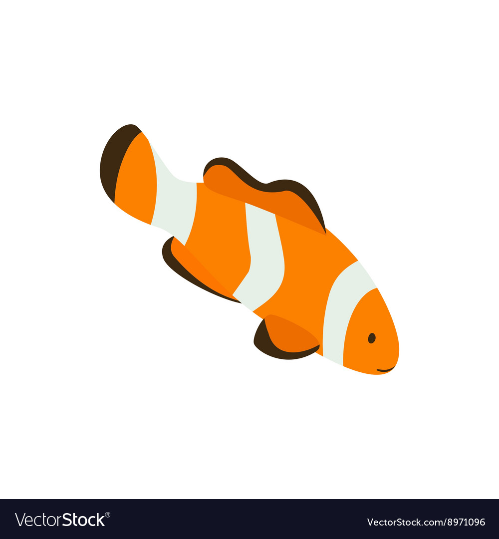Clown fish icon isometric 3d style vector image