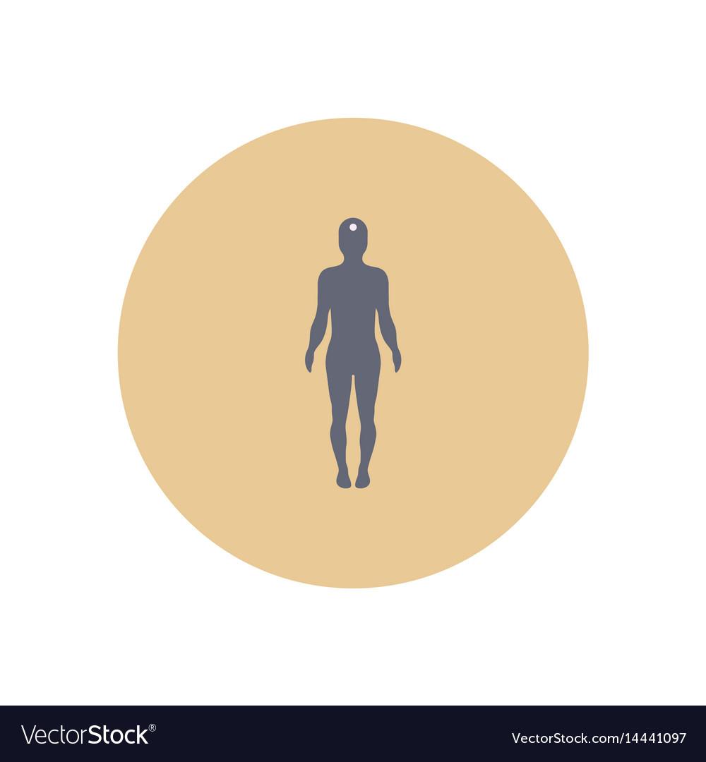 Stylish icon in color circle body stroke