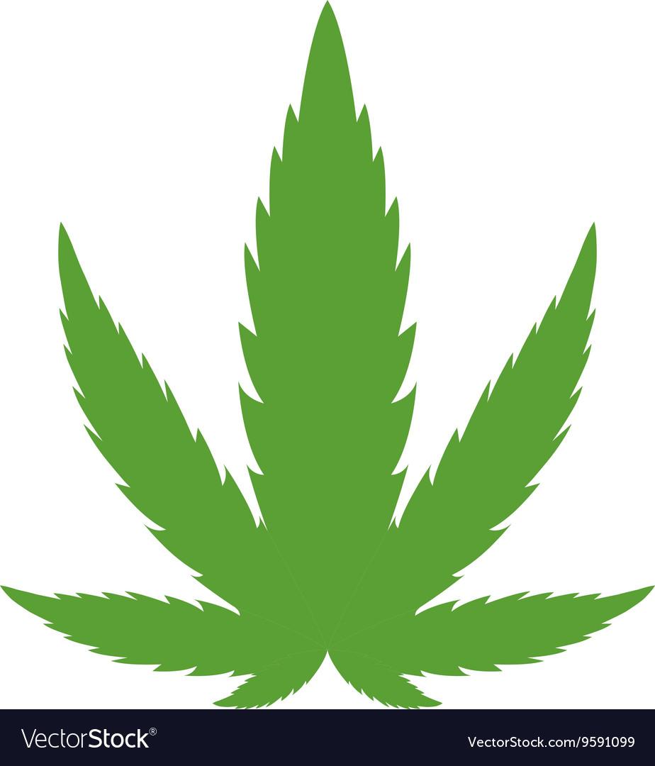 cannabis marijuana leaf royalty free vector image rh vectorstock com Industrial Hemp Leaf Weed Leaf