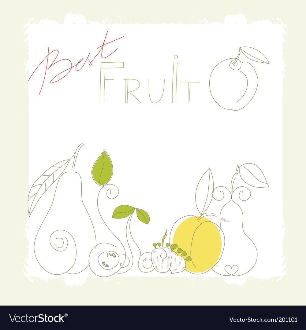 Best fruit vector image