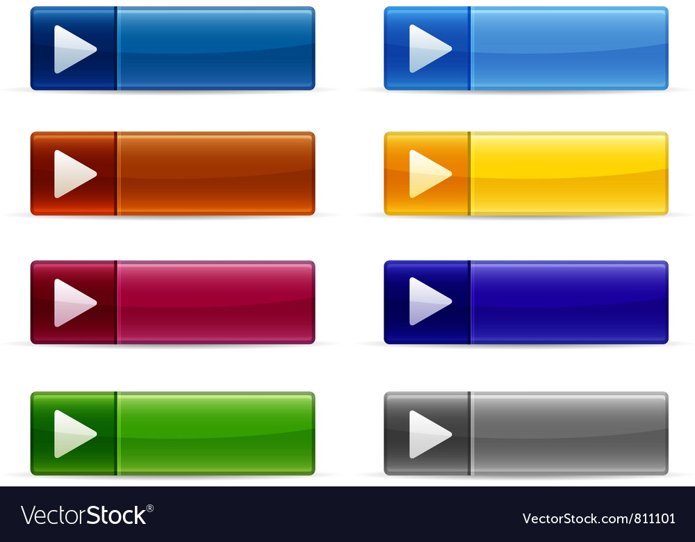 Shiny Button Collection vector image