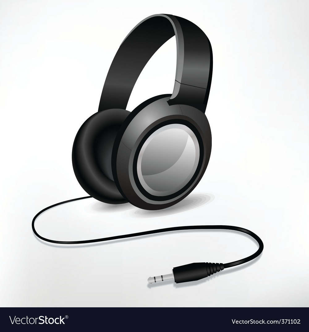 Headphones illustration vector image