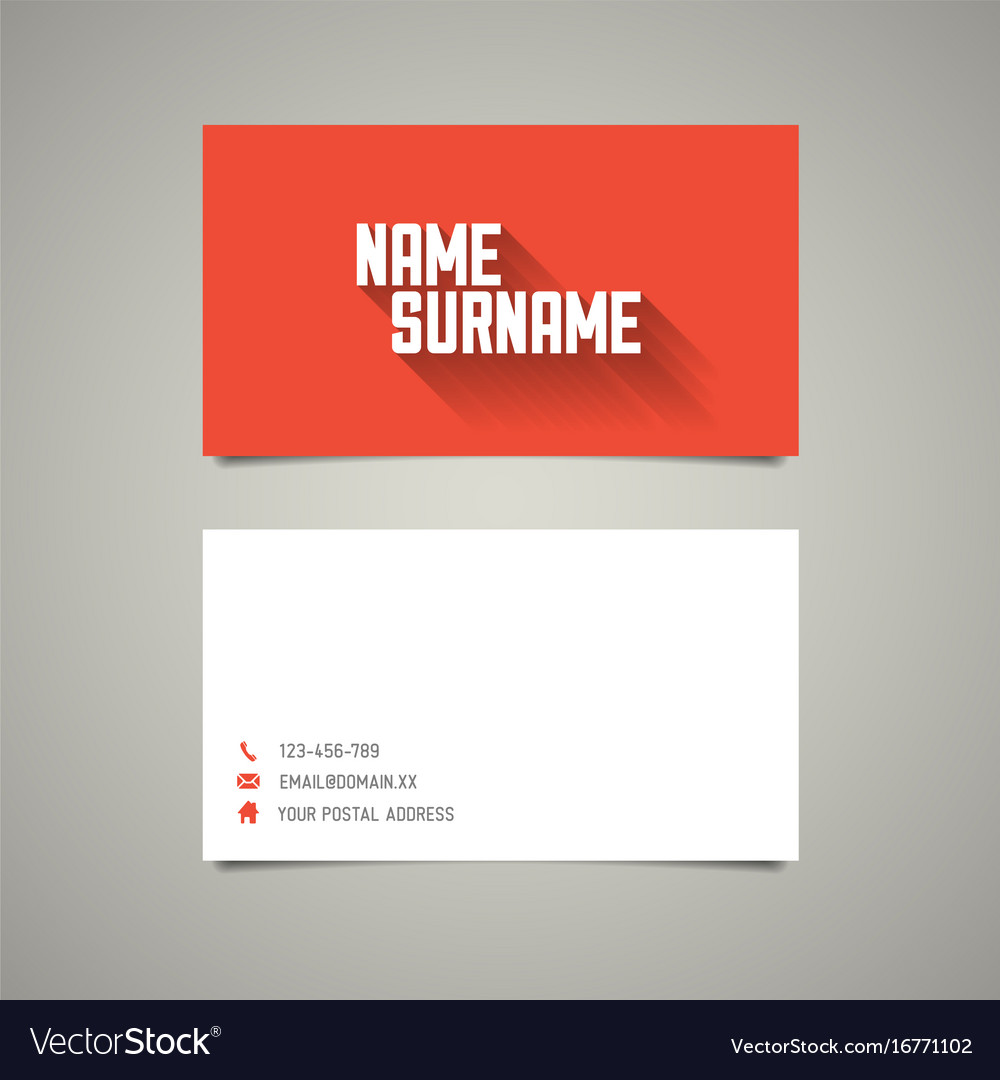 Modern simple business card template with long vector image wajeb Choice Image