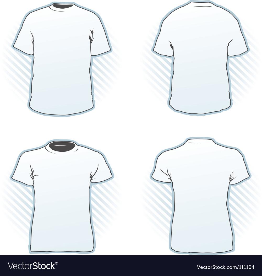 T-shirt design template set Vector Image