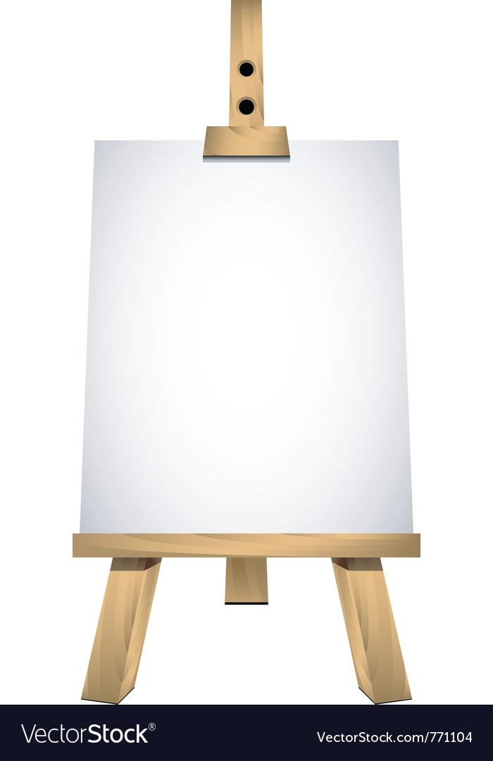Art easel vector image