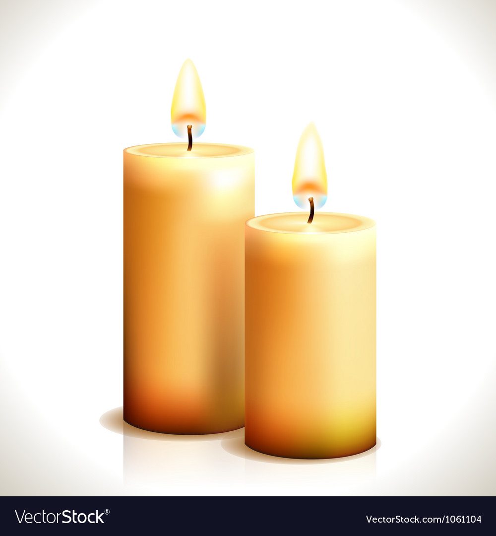 Burning Candles vector image