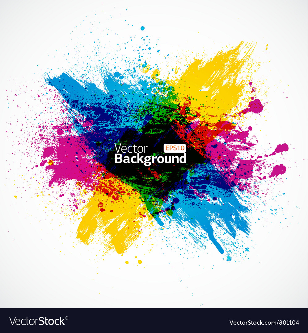 Cmyk background vector image