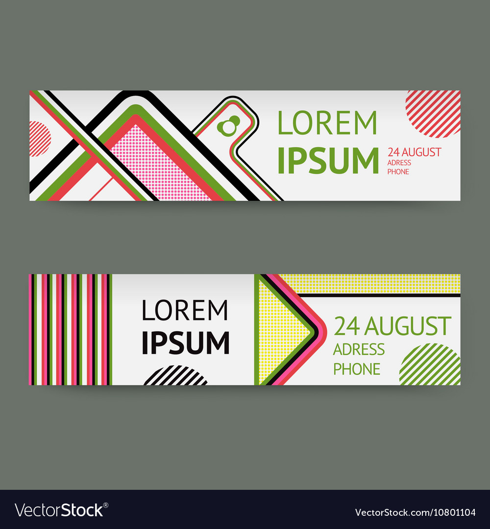 Set template banners with Geometric vector image
