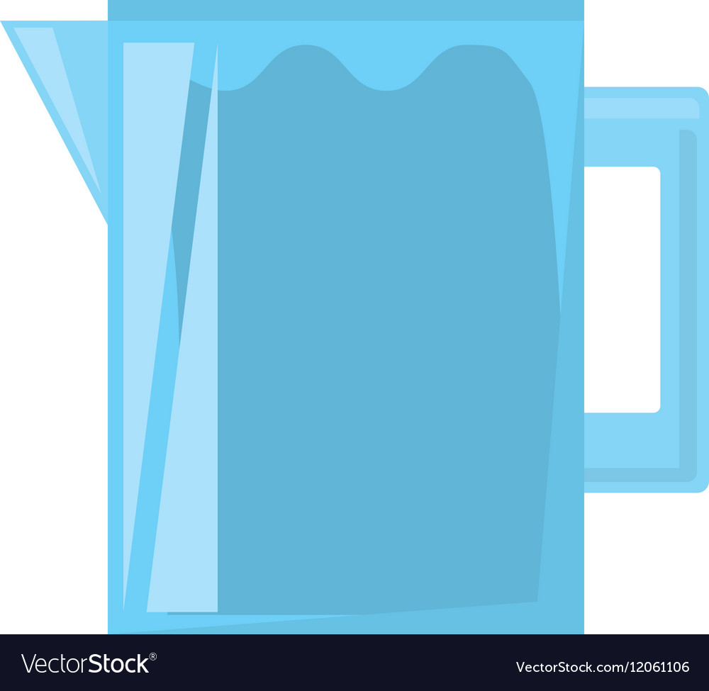 Pitcher water juicy kitchen icon vector image