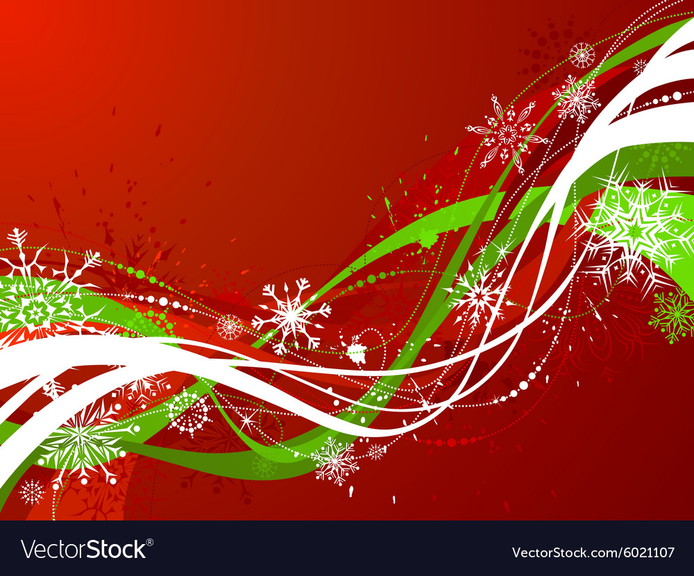Red and green Christmas background vector image