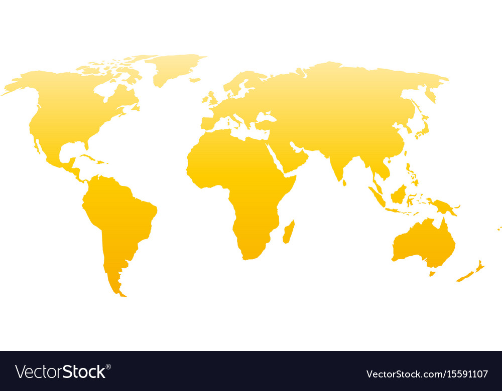 World map silhouette yellow gradient royalty free vector world map silhouette yellow gradient vector image gumiabroncs Images