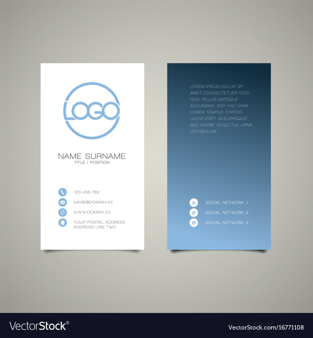 Modern simple vertical business card template vector image fbccfo Gallery