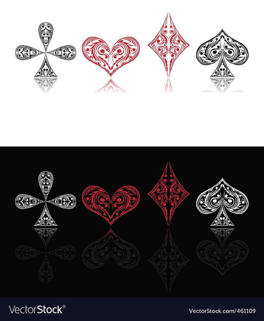Playing card symbols vector image