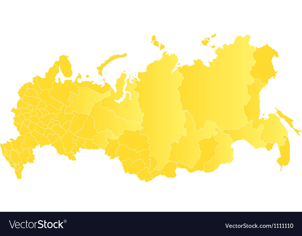 Map of the Russian Federation vector image